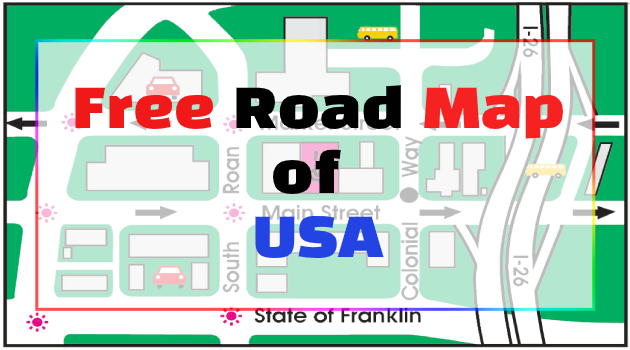 Free Road Map of USA