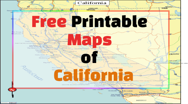 California Printable Maps