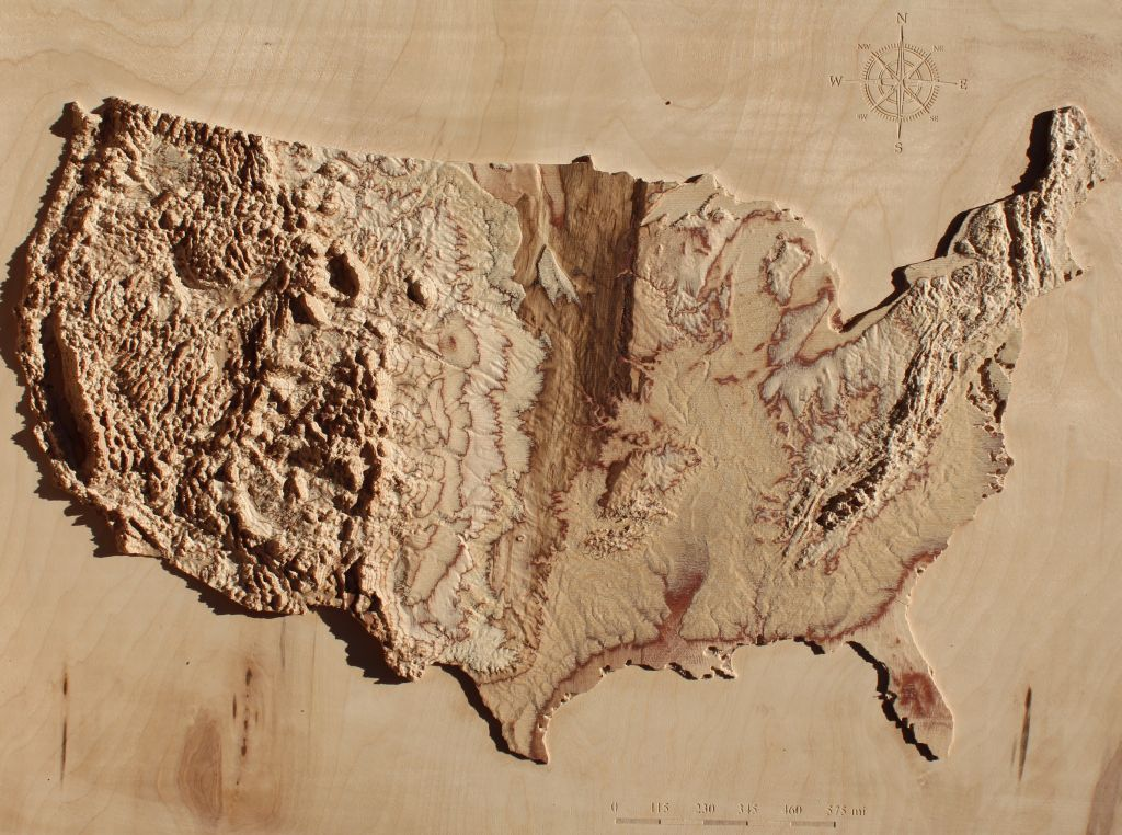 3d elevation u.s map