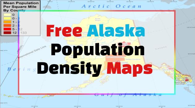 Alaska Population Density Maps