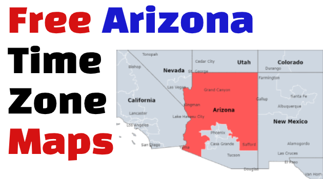 Arizona Time Zone Maps