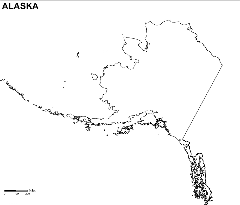 Alaska Blank Map