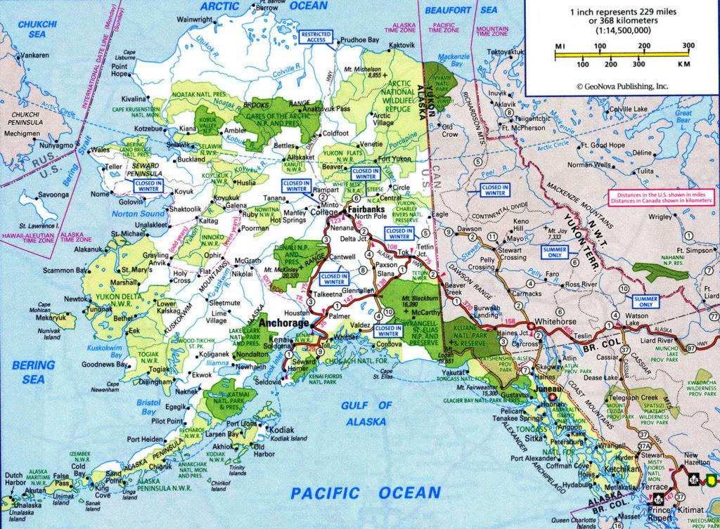 Alaska Road Map