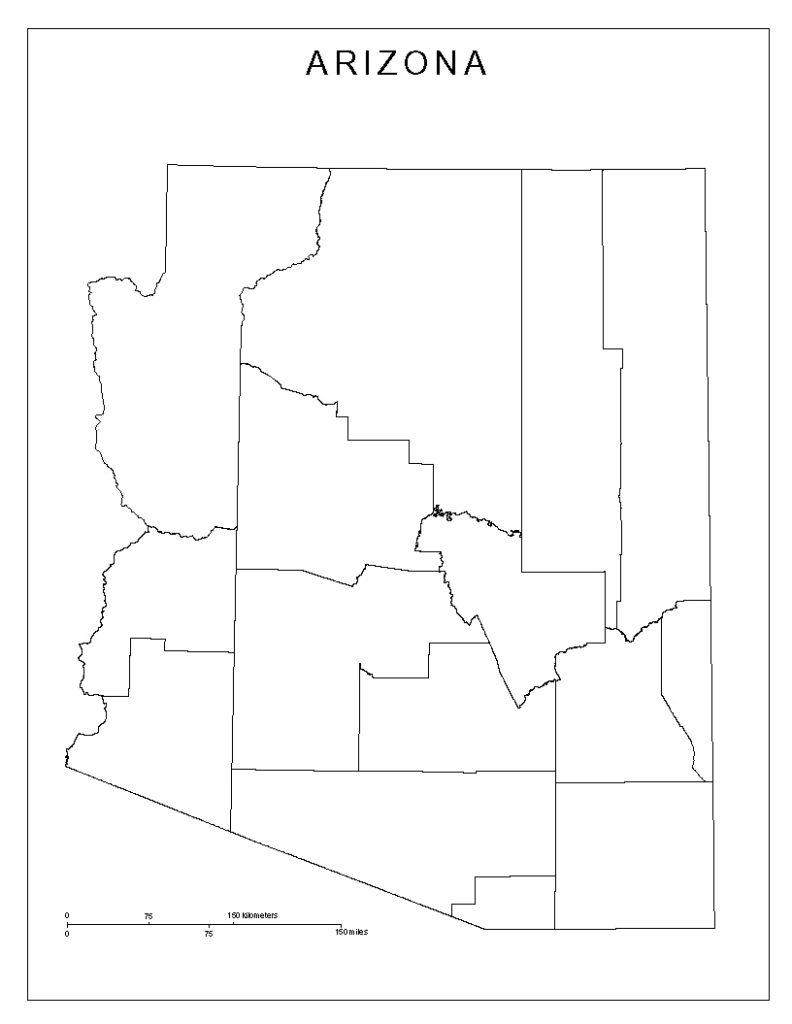 Arizona Blank Map