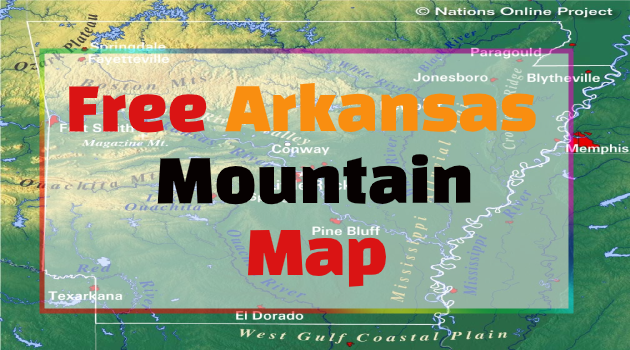 Arkansas Mountain Map