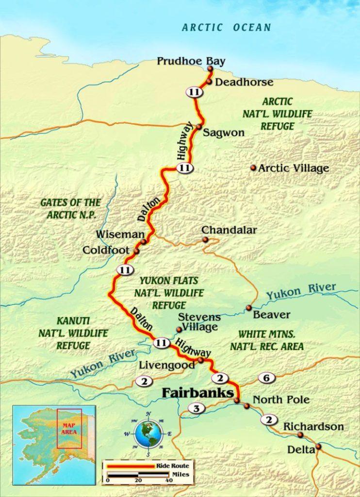 Dalton highway map