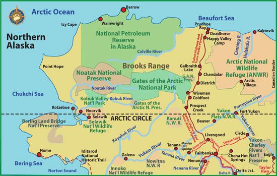 Northern Alaska Road Map