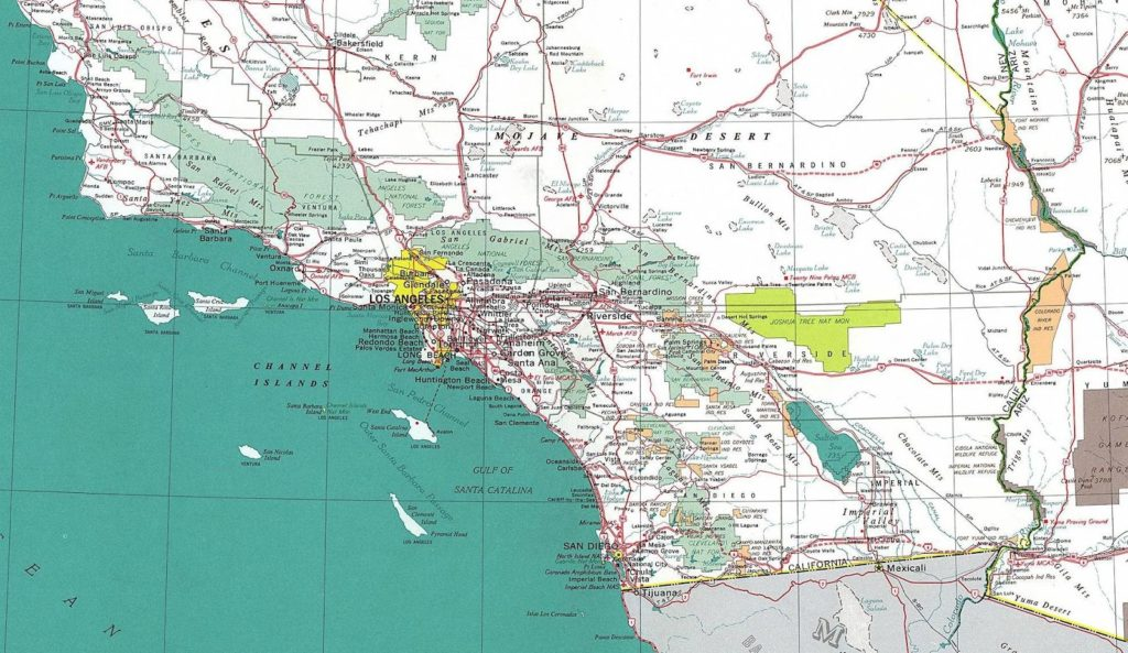 Road Map of Southern California