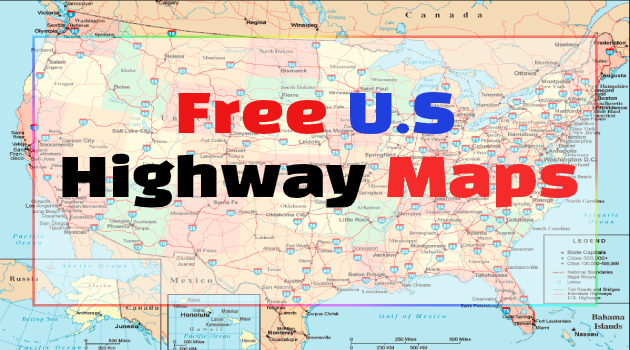 Free Highway Map Us Free U.S Highway Maps | Interstate Maps