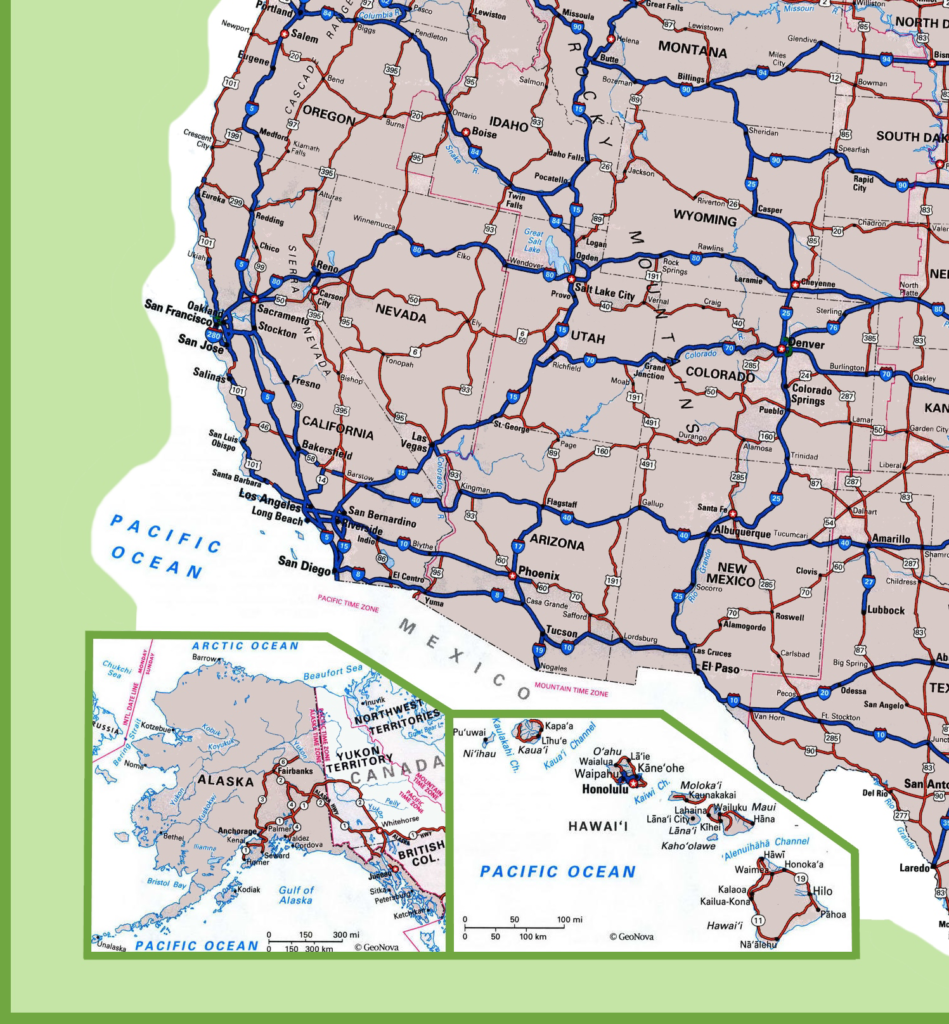 Image of: Free Road Map Of Usa United States Of America