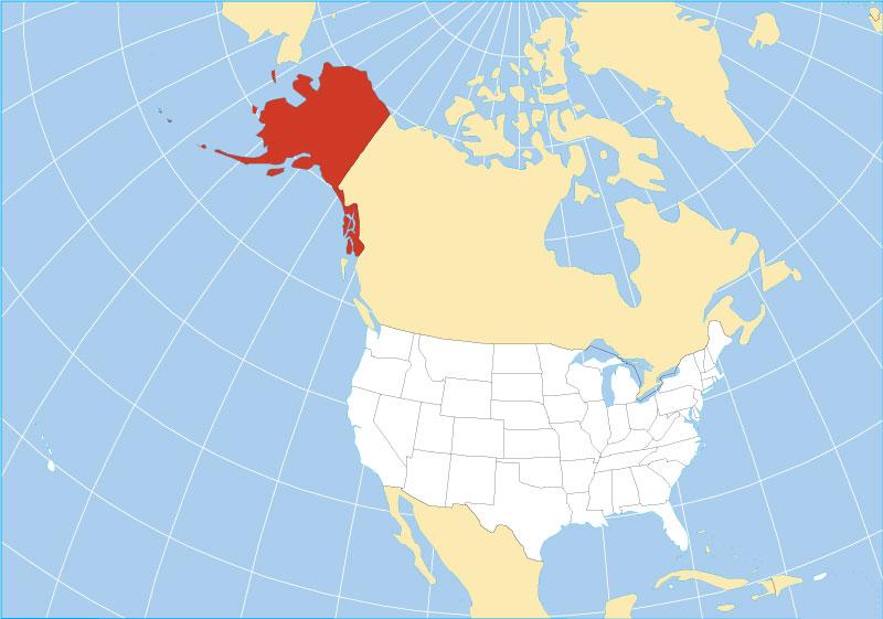 alaska range on world map