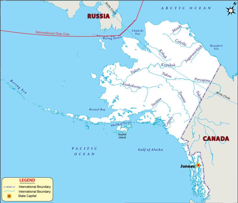 alaska river map