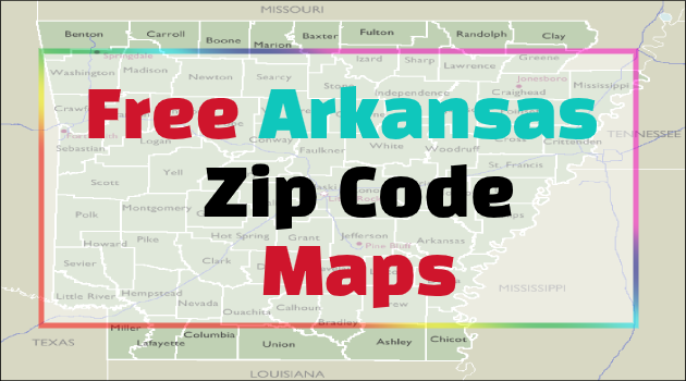 Arkansas Zip Code Maps