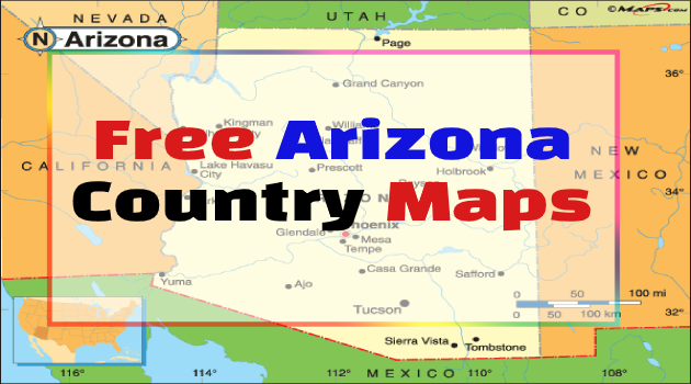 Arizona Country Maps