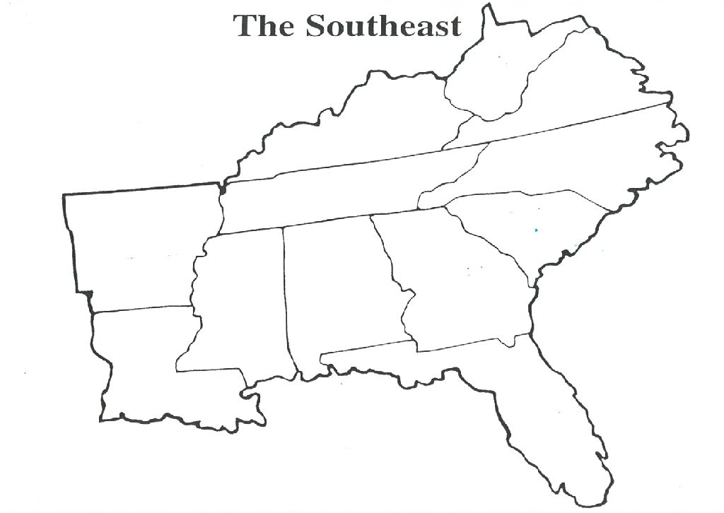Free Blank Maps Of The United States U S