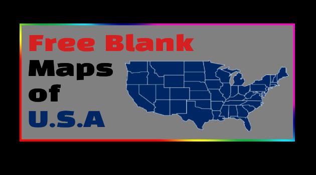 blank u.s map