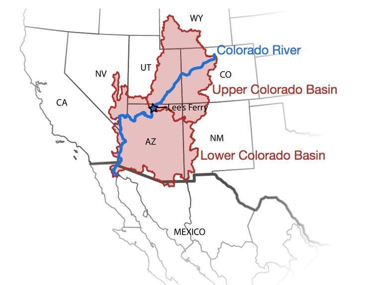 colorado river arizona map
