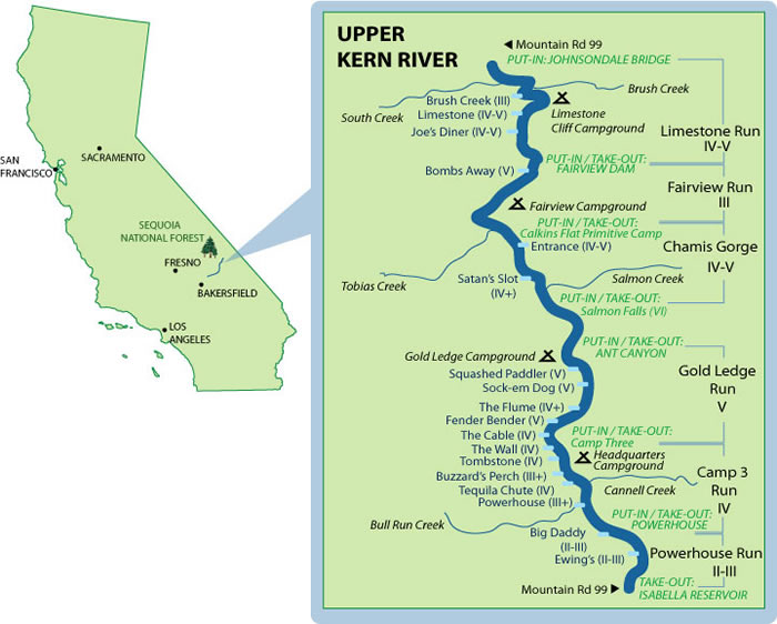 kern river campground map