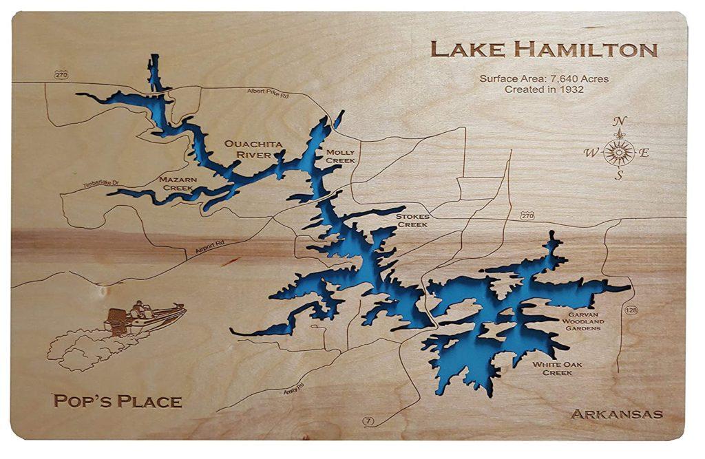 lake hamilton arkansas map