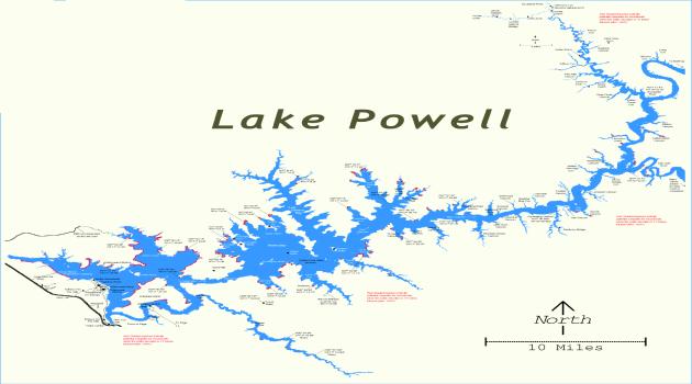 lake powell arizona map