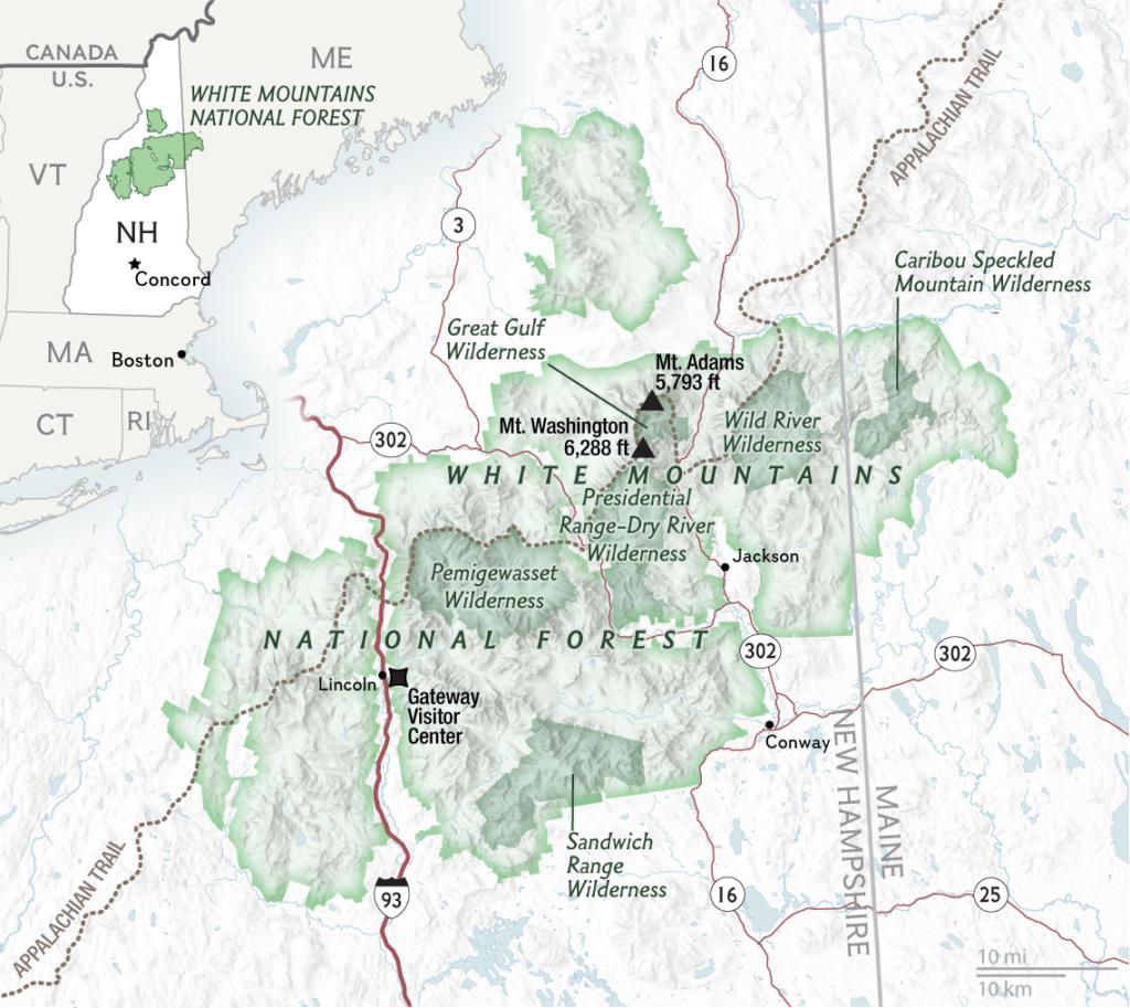 White Mountains California Map