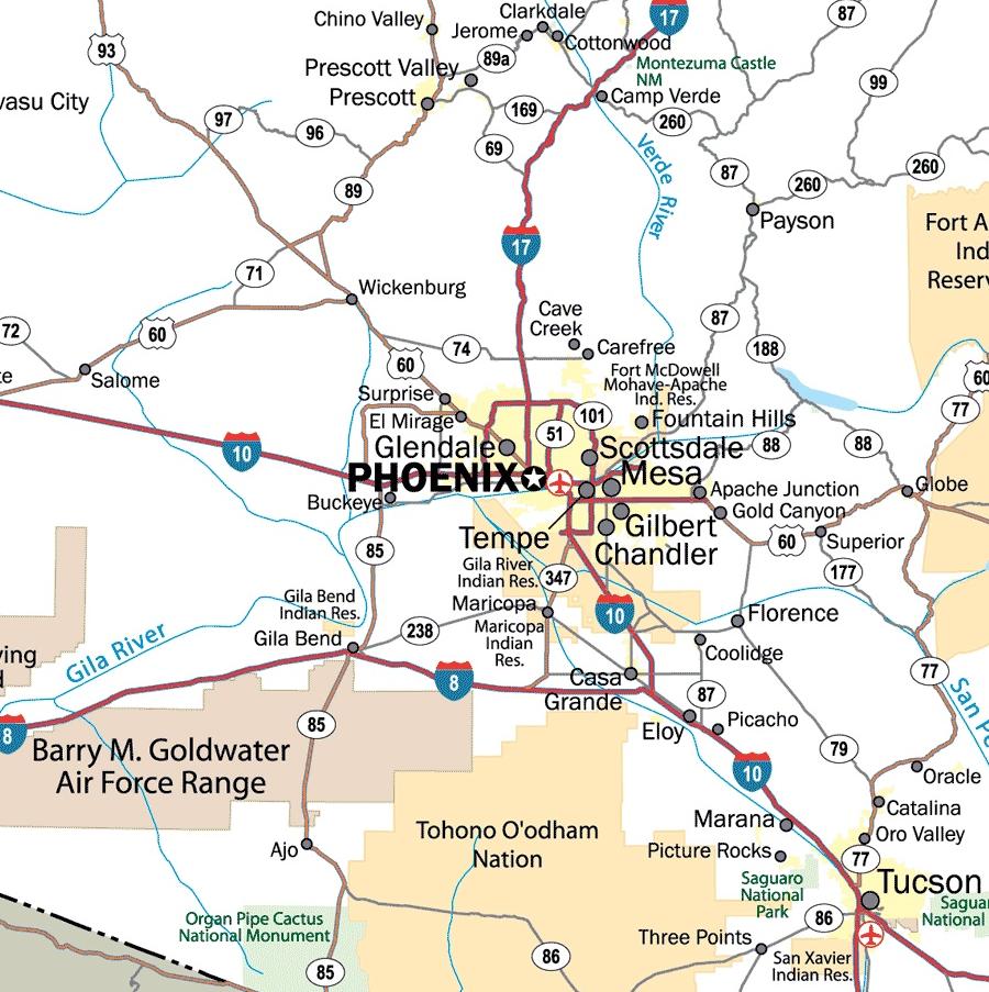 phoenix highway map