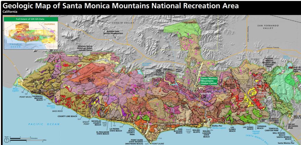santa monica mountains map