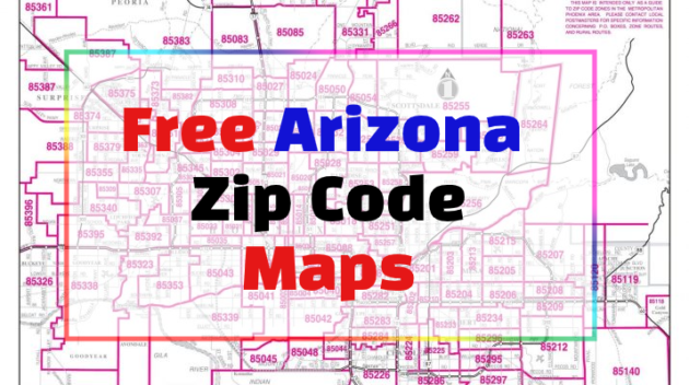Arizona Zip Code Maps