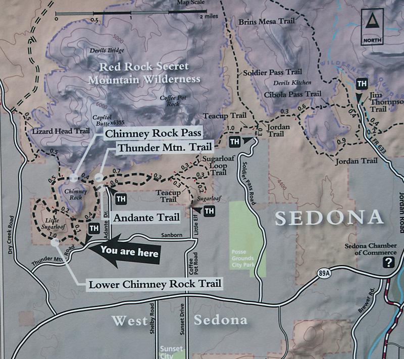 sedona mountain arizona map
