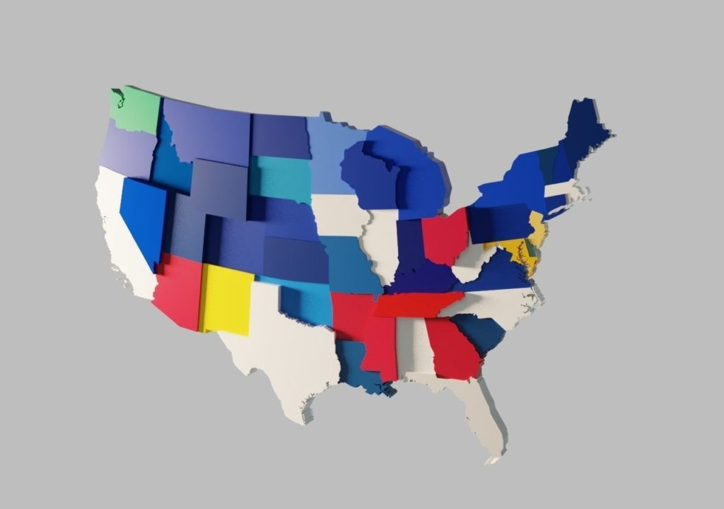 3D Colorful U.S Maps