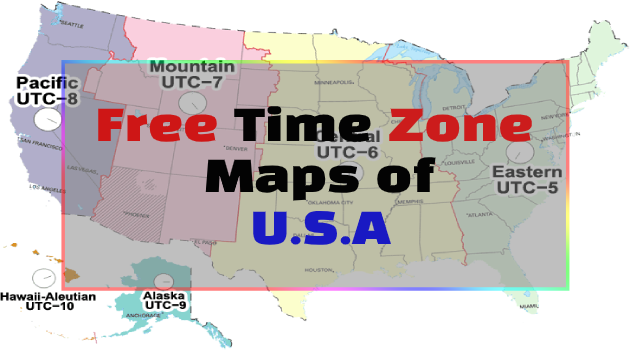 U.S Time Zone Maps