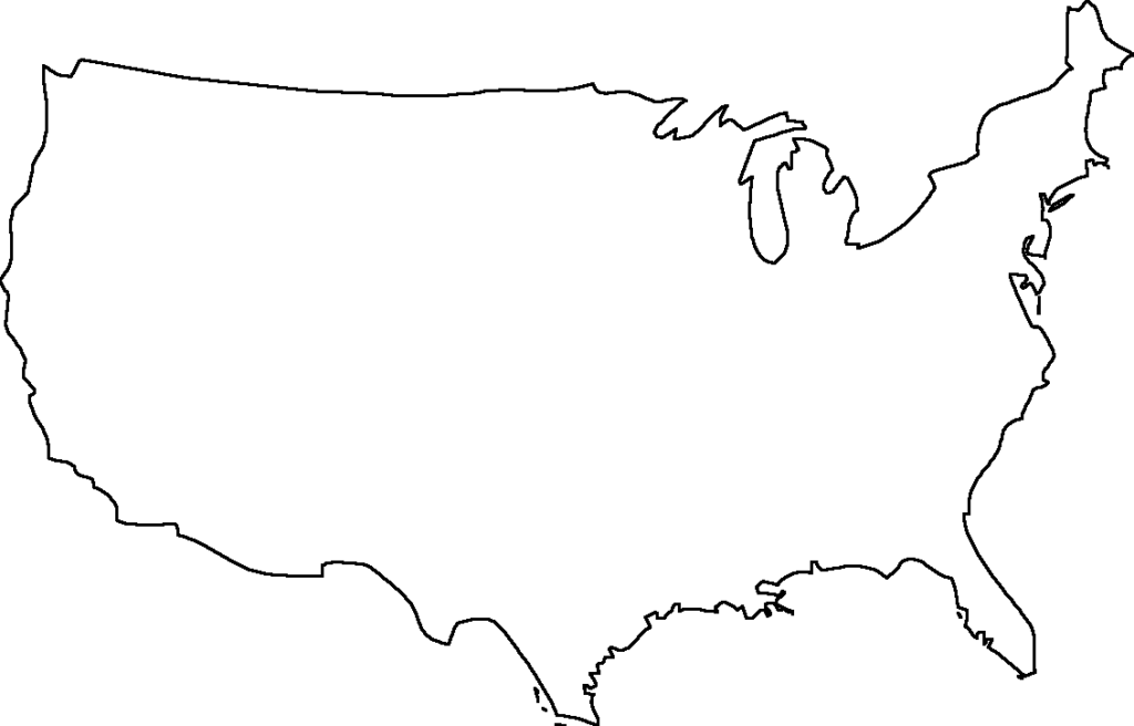 Picture of: Free Blank Maps Of The United States U S