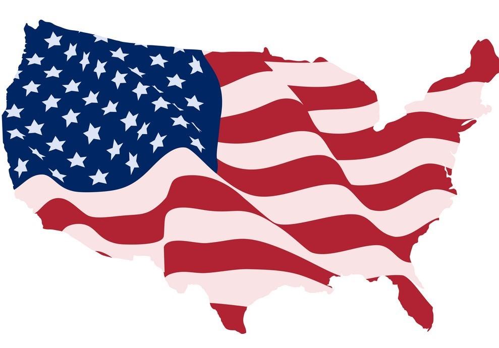 U.S.A Flag Map