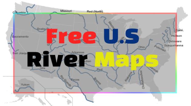 U.S river maps