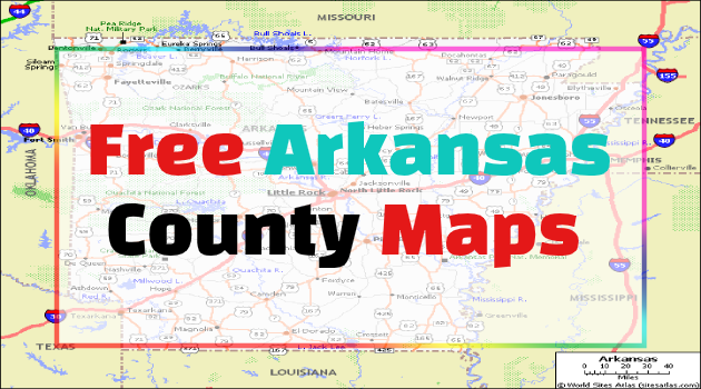 Arkansas County Maps