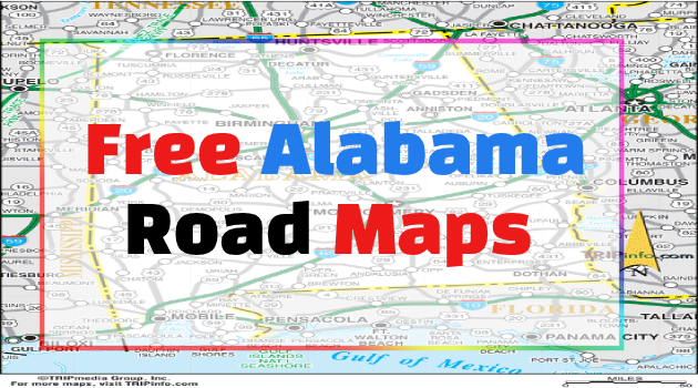 Alabama Road Maps