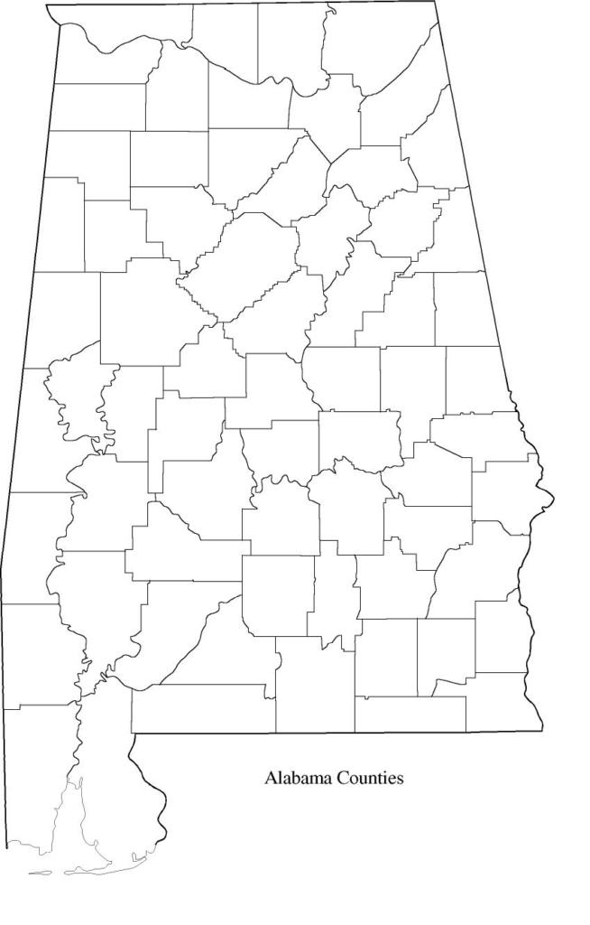 Alabama Outline Map
