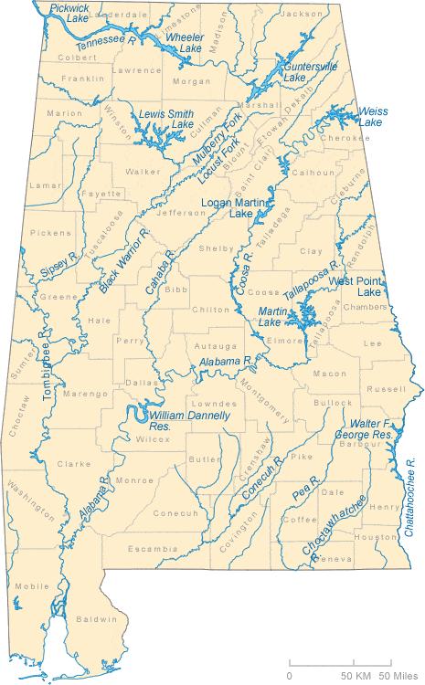 Alabama River Map