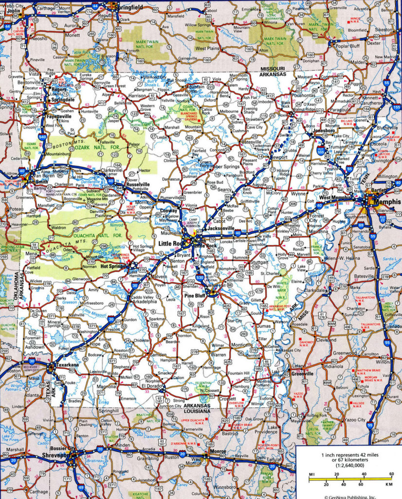 Arkansas Road and Highway Maps
