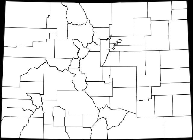 Blank colorado map