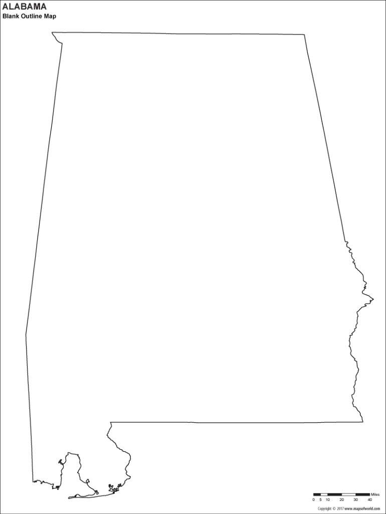 Blank map of alabama