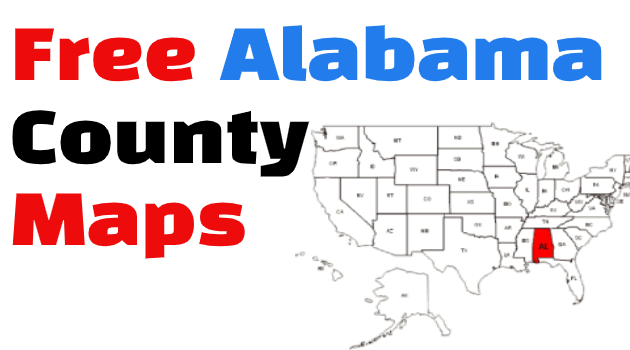 Alabama County Maps