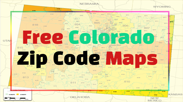 colorado zip code map