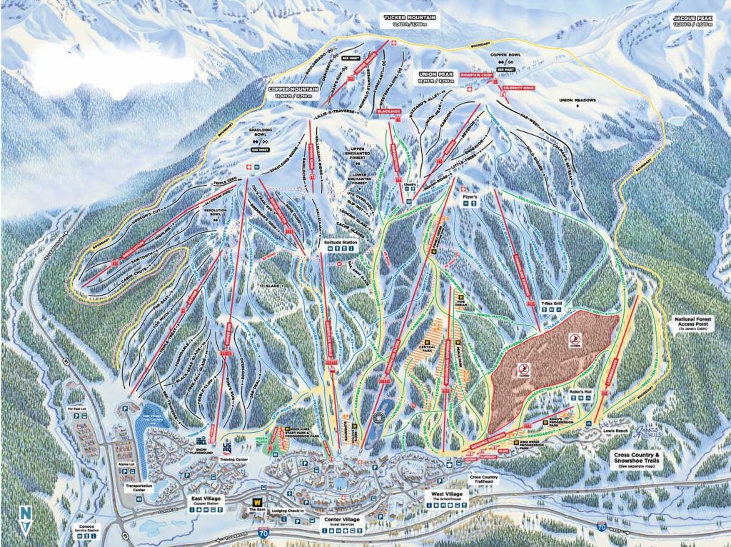 copper mountain colorado map