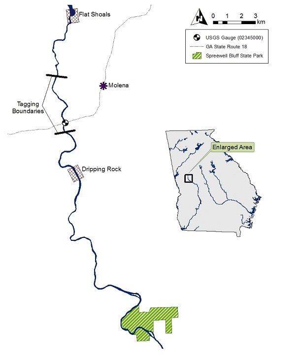 flint river ga kayak map