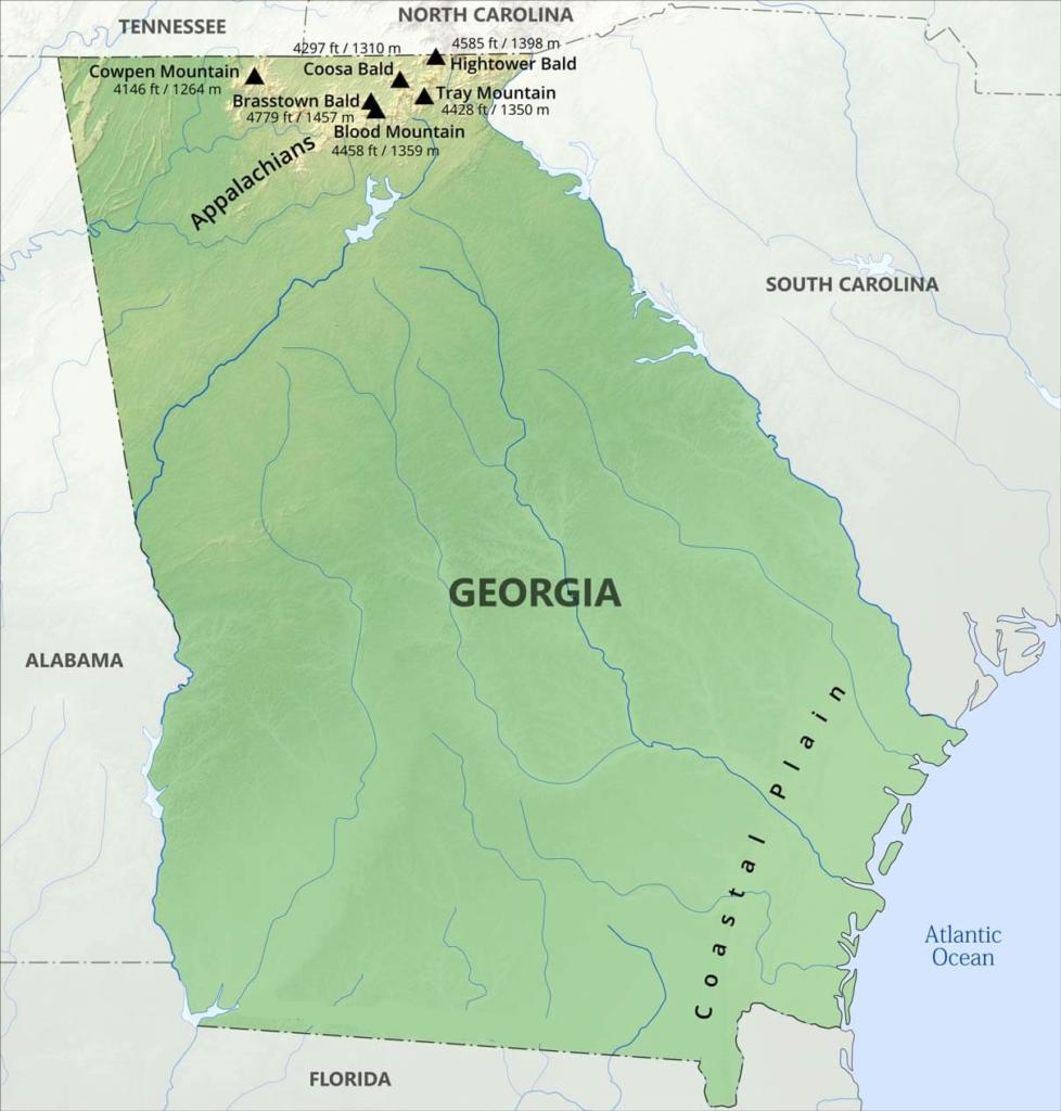 georgia mountains map