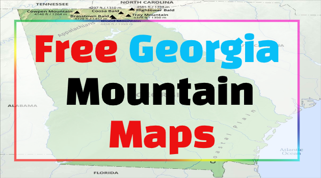 georgia mountains map