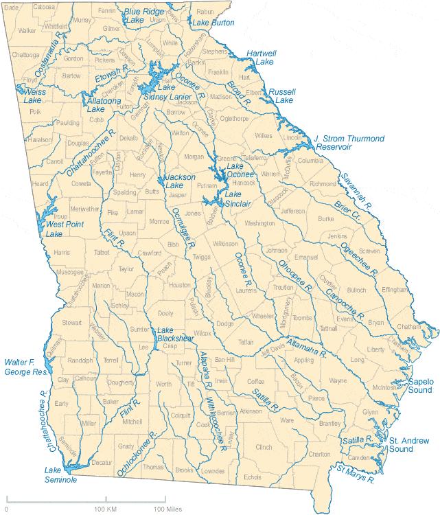 georgia river map