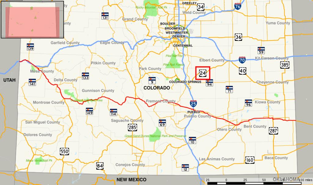 highway 24 colorado map