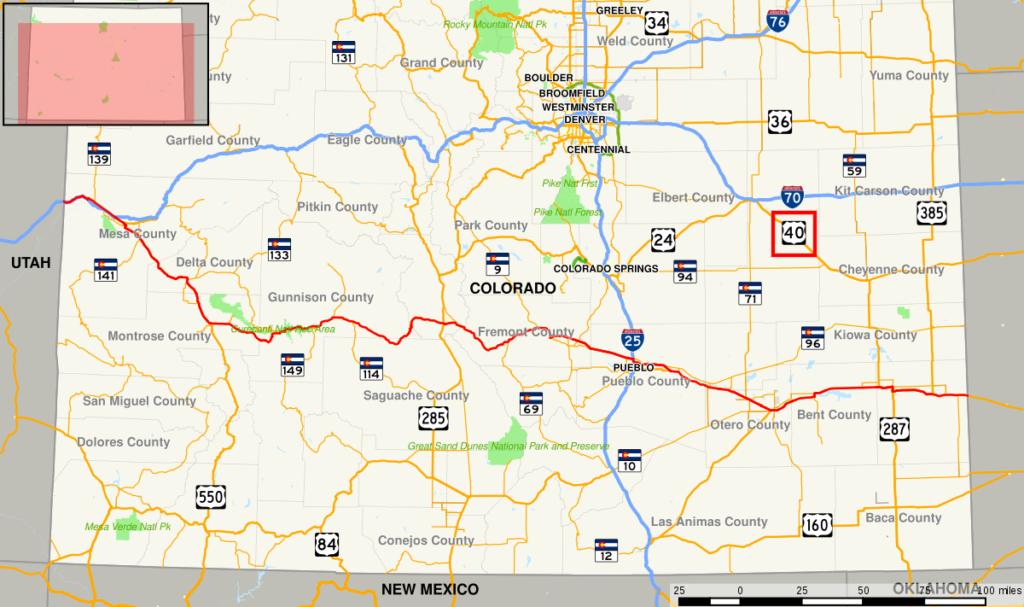 highway 40 colorado map